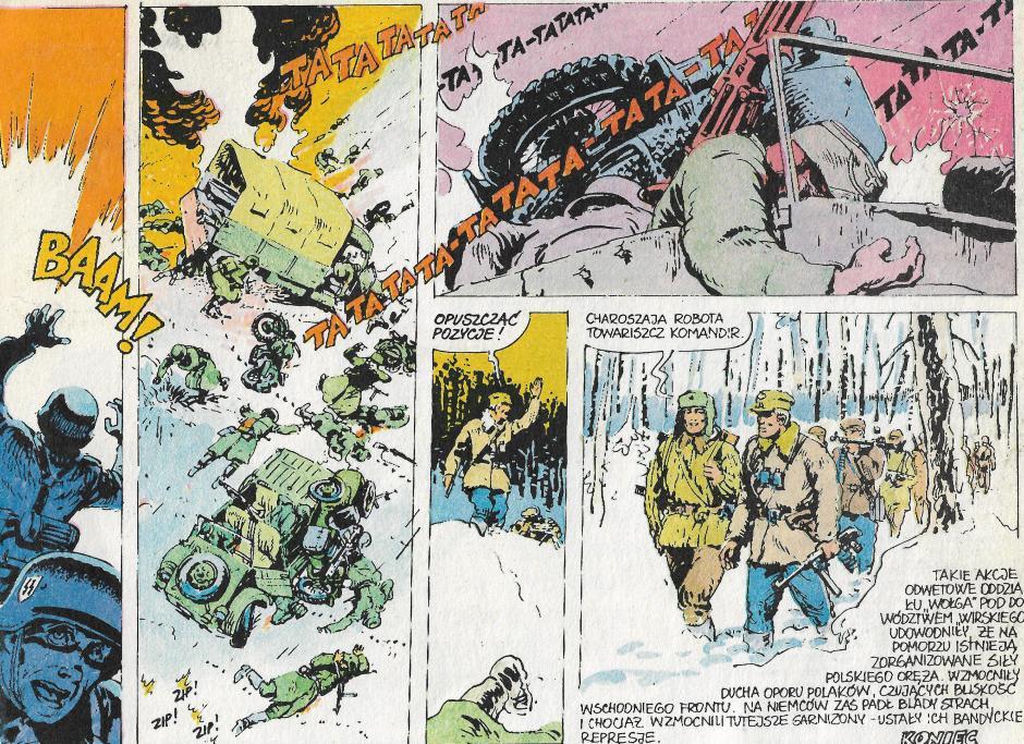 Ilustracja 1. Fragment komiksu Dziewięciu z nieba