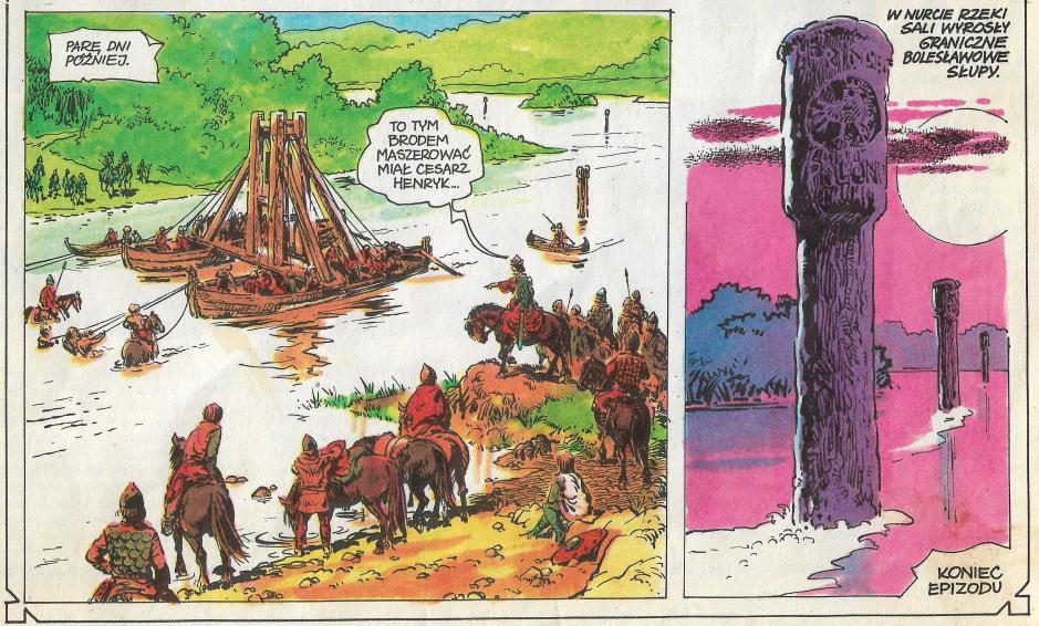 Ilustracja 2. Fragment komiksu Bolesławowe słupy