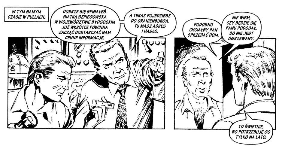 Ilustracja 3. Fragment komiksu Kryptonim Złota Doxa