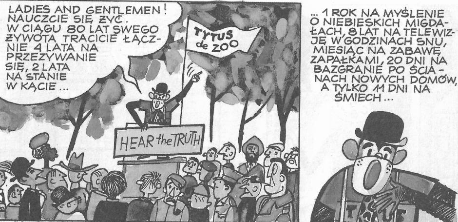 Ilustracja 5. Fragment komiksu z serii Tytus, Romek i A'Tomek. Księga V