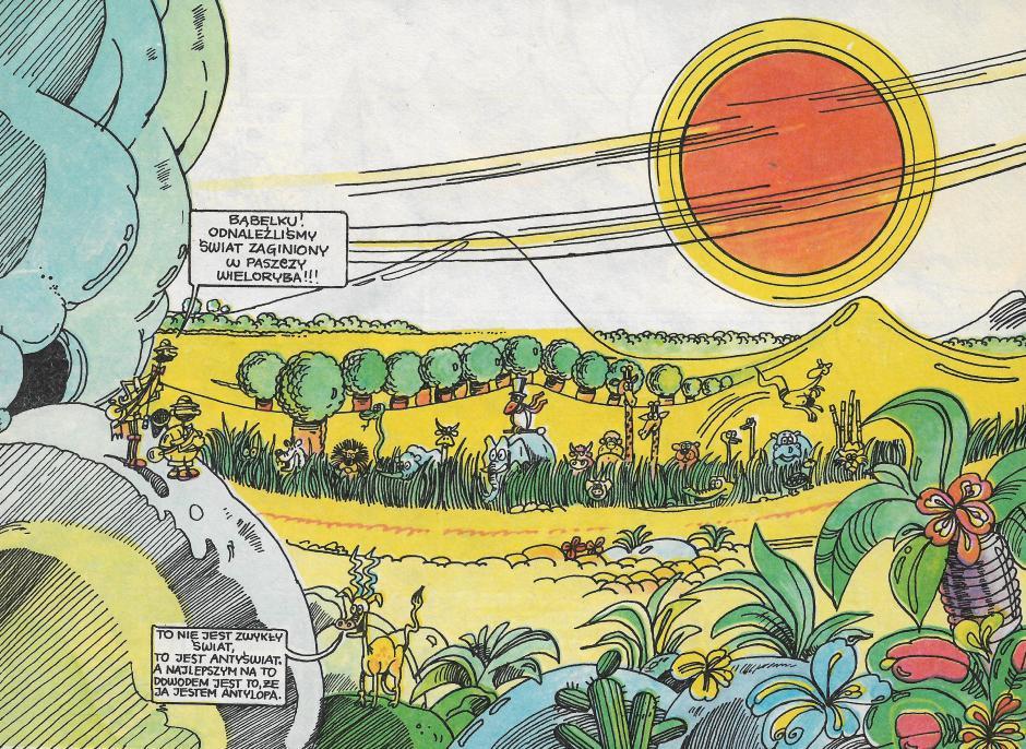 Ilustracja 6. Fragment komiksu Na co dybie w wielorybie czubek nosa Eskimosa